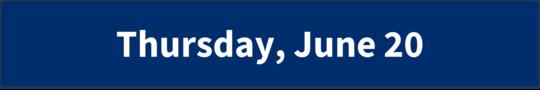Thursday, June 20