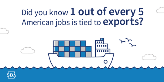 Did you know one out of every five American jobs is tied to exports?