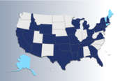 image of map with advocacy roundtables