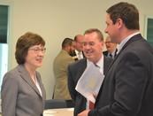 image of Senator Collins, RA Davis and Mike Elliott, Katahdin Region Economic Development Board