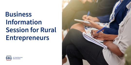 Business Information Session for Rural Entrepreneurs