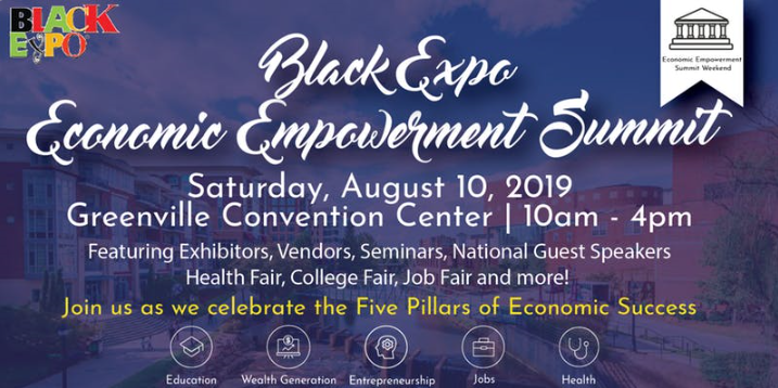 Black Expo at Greenville Convention Center on August 10th.