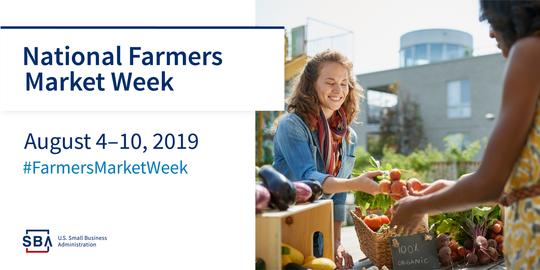 National Farmer's Market Week August 4-10, 2019 #FarmersMarketWeek