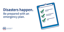 Disasters happen, be prepared with an emergency plan