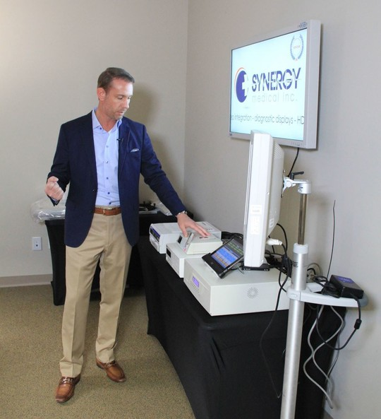 Synergy Medical founder Jeremy Buchheit prepares for a presentation