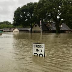 Photo of Hurricane flooded neighborhood