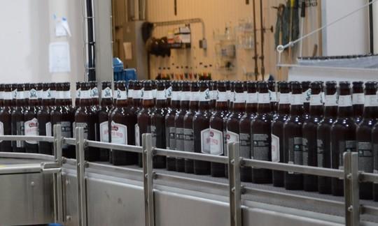 Switchback  brewery bottle line