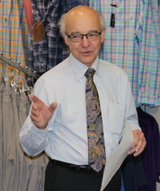 Jim Siebert, third generation owner of Siebert's Clothing in Jasper, Indiana