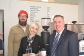 image of ra davis and time and tide coffee