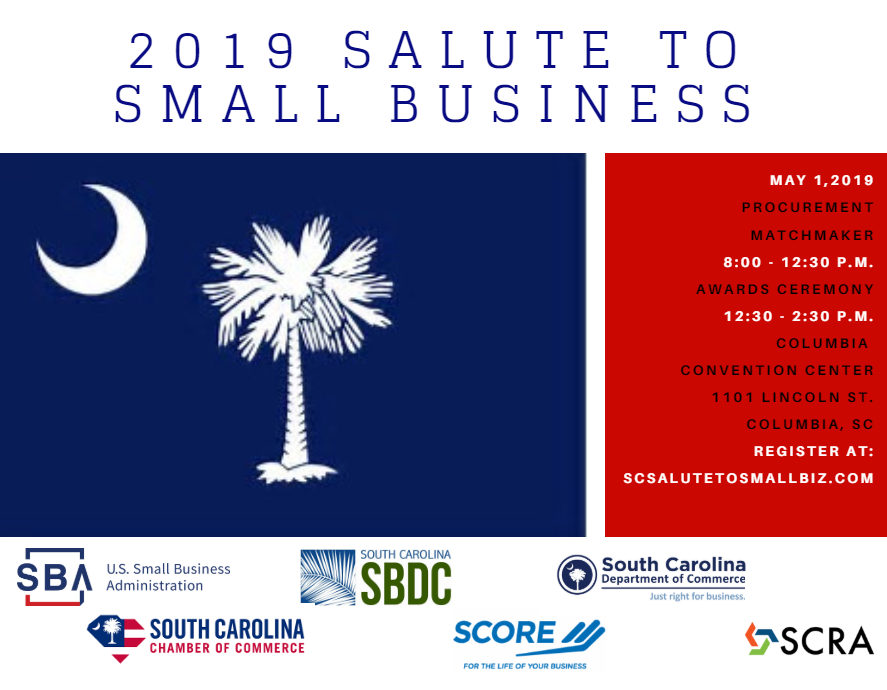 2020 Salute to Small Business on May 6th from 8-2:30 p.m. at the Columbia Convention Center