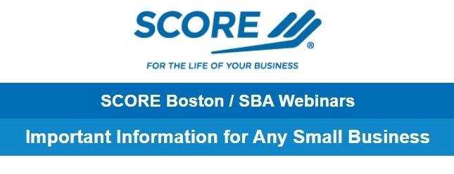 SCORE Boston Webinar
