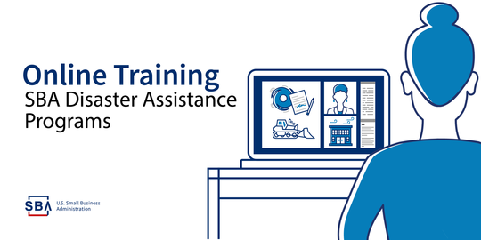 online disaster loan assistance image with sba logo