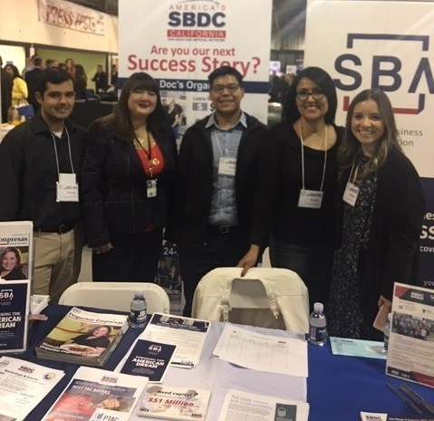 Group photo at Imperial Valley Business Expo - SBDC/SBA Exhibit Booth
