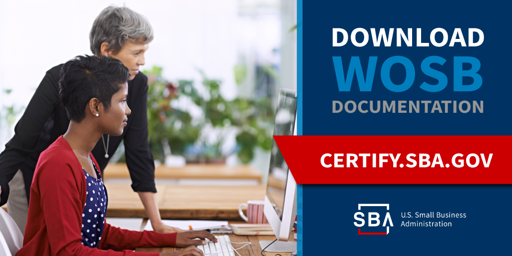 download WOSB certification documentation, Women-Owned Small Business Federal Contracting