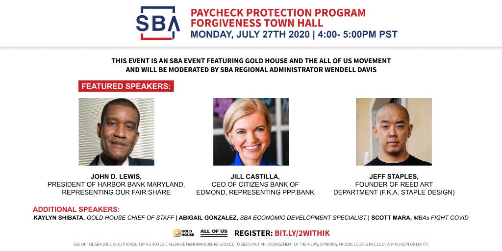 SBA Paycheck Protection Program Forgiveness Town Hall