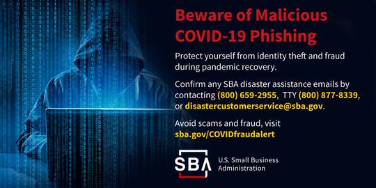 COVID-19 Phishing Graphic