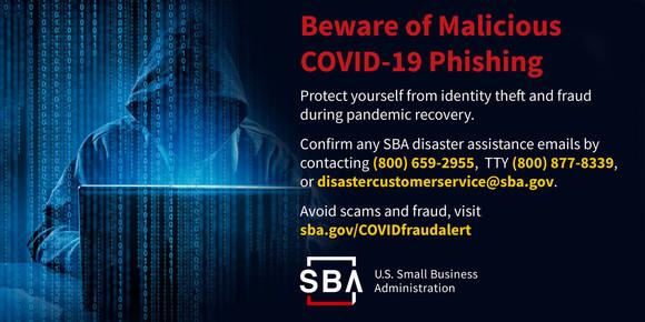 Beware of malicious COVID-19 phishing