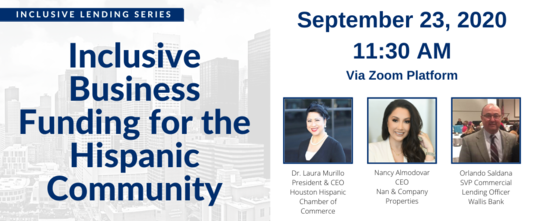 09.23.2020 Inclusive Business Funding for the Hispanic Community