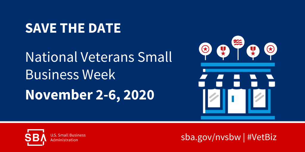 Save the Date: National Veterans Small Business Week, November 2-6, 2020