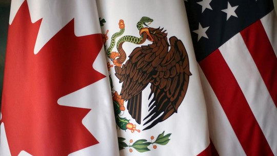 U.S., Mexico, Canada flags