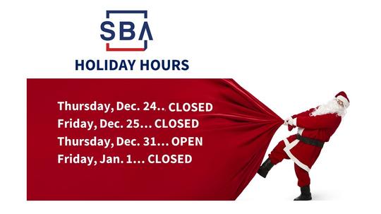 SBA Holiday Hours
