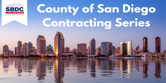 Graphic Header for the SBDC's County of San Diego Series