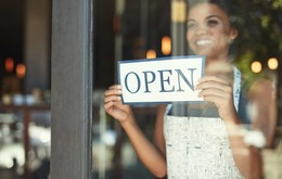 Woman Small Business Open