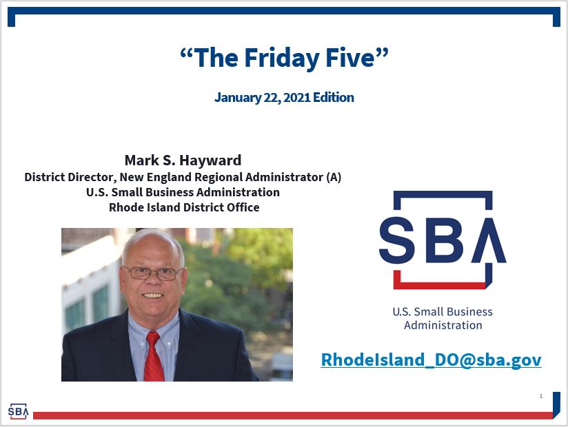 Friday Five slide