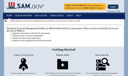 SAM Registration Webinar
