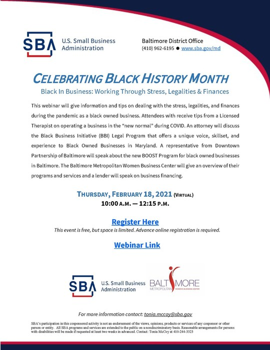 Baltimore DO Black History Month Webinar