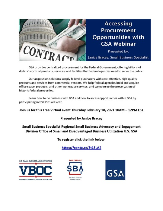 Veterans Event: Doing business with GSA