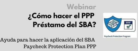image for Spanish PPP webinar