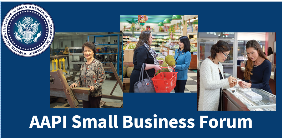 3 images of business owners , one in a manufacturing facility, one in a grocery store and one in a jewelry store