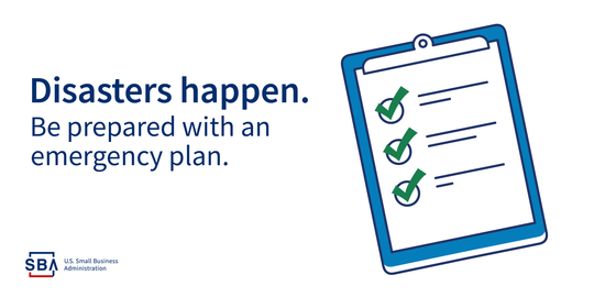 SBA has resources to help you create a disaster communications plan, preparation plan and recovery plan.