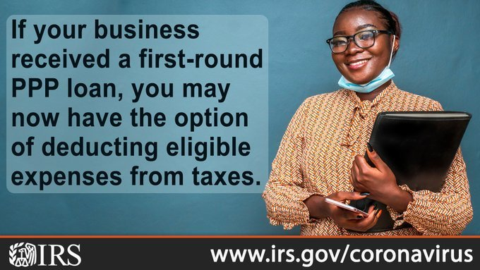 [Information from the IRS about PPP]