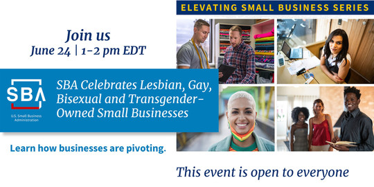 Elevating Small Business Series on June 24 at 1 pm EDT