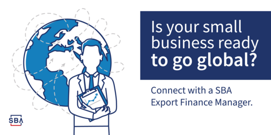Connect with an SBA Export Finance Manager