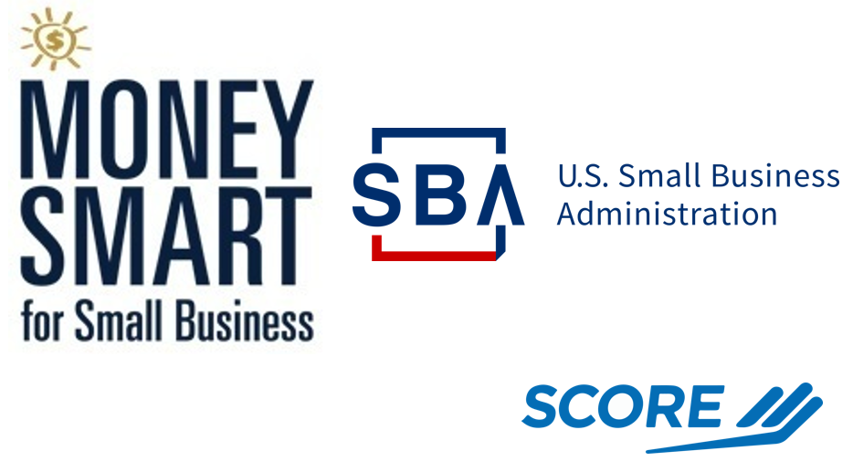 Money Smart graphic with SBA and SCORE logos