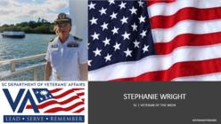 Stephanie Wright veteran of the week