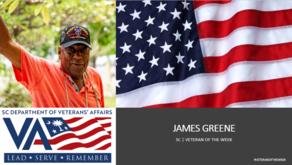 James greene veteran of the week slide