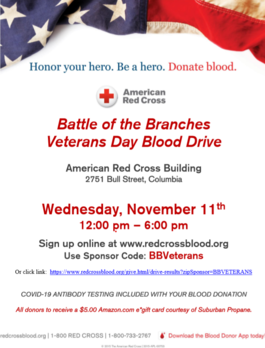 battle of the branches blood drive