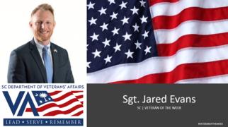 jared evans veteran of the week