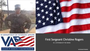 christine veteran of the week slide