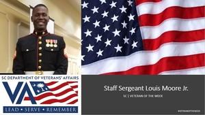 Louis Moore Jr. veteran of the week