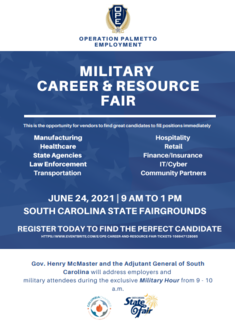 Operation Palmetto Employment Statewide Military Career and Resource Fair