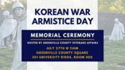 Korean War Veteran Armistice Day Flyer