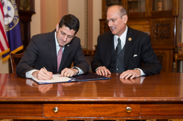 Speaker Ryan signs the Eric Williams Correctional Officer Protection Act