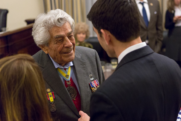 Speaker Ryan meets 99-year-old Lt. Col. Magellas