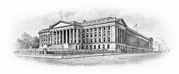 Treasury Building Engraving
