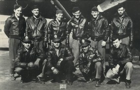 "Picture of the crew of the ""Mi Amigo"""